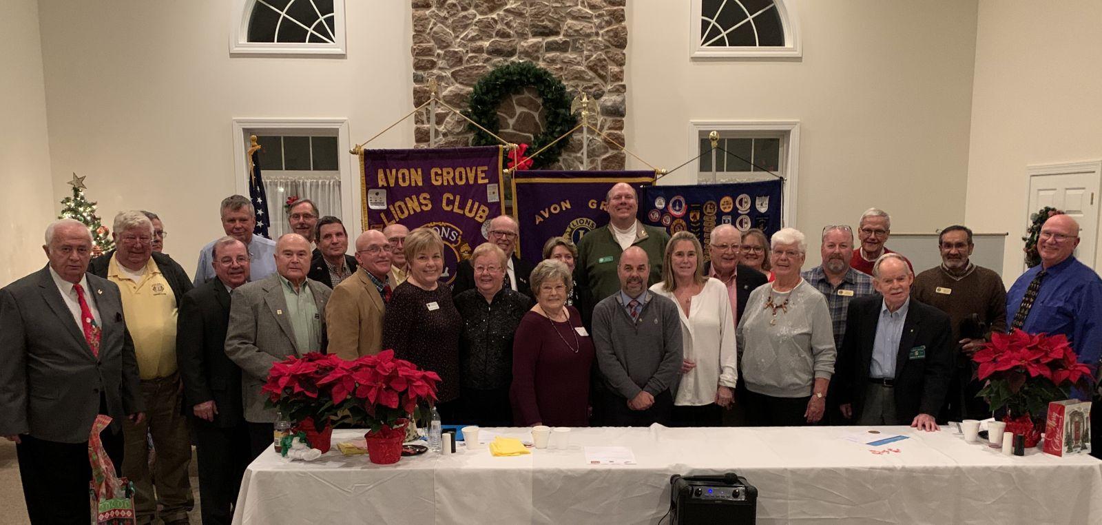 Avon Grove Lions Club Holiday Dinner 2019