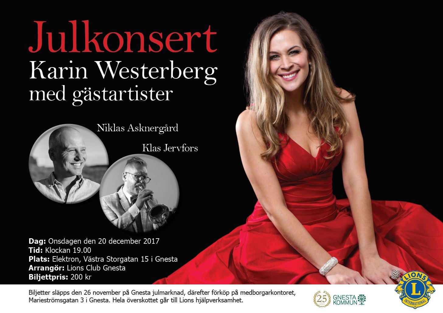Julkonsert med Karin Westerberg med gäster