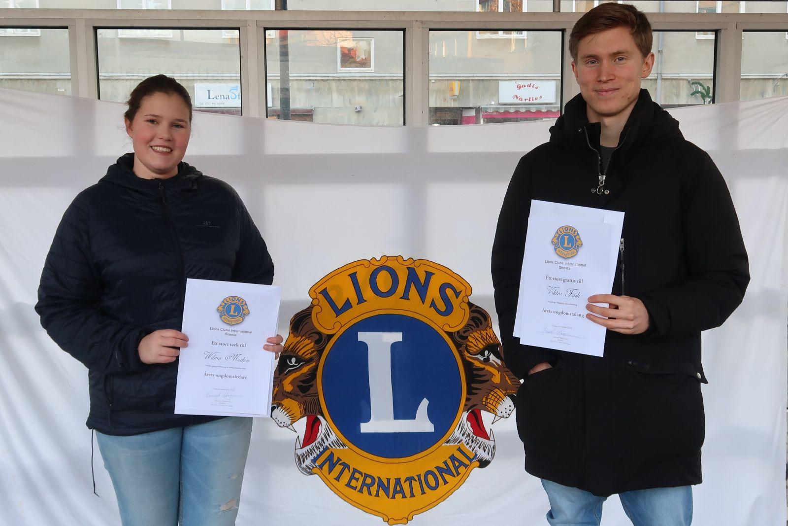 Bild på Lions Club Gnestas stipendiater 2020