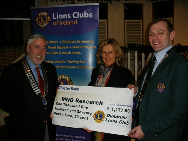 Cheque Presentation to RMN by Dundrum Lions Club