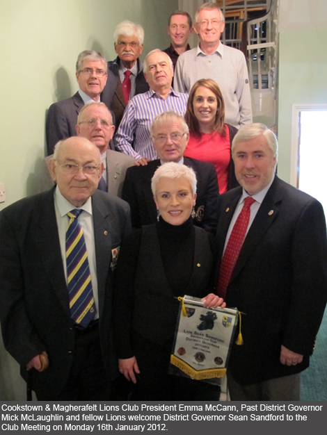 District Governor Sean Sandford visits Cookstown & Magherafelt Lions Club