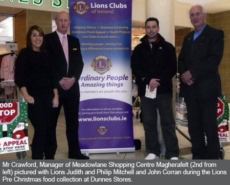 Cookstown and Magherafelt Lions Club Food Collection at Dunnes Stores