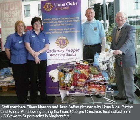 Cookstown and Magherafelt Lions Club Pre Christmas Food Appeal