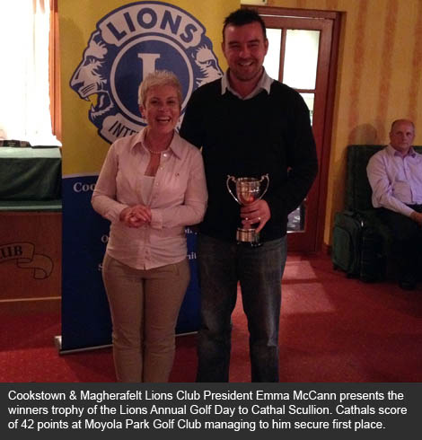 Cathal Scullion wins 2012 Lions Golf Day at Moyola