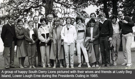 Cookstown and Magherafelt Lions Club President Outing 1985
