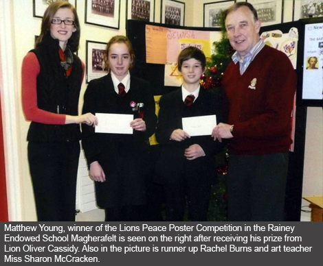 Cookstown and Magherafelt Peace Poster Winners from rainey Endowed School Magherafelt