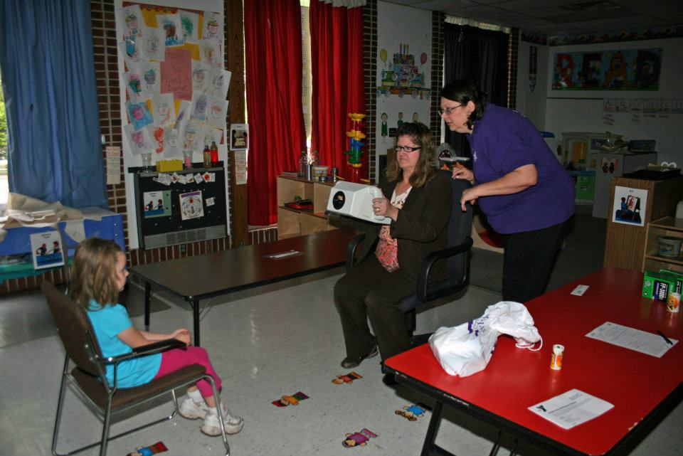 Conducting a KidSight vision screening