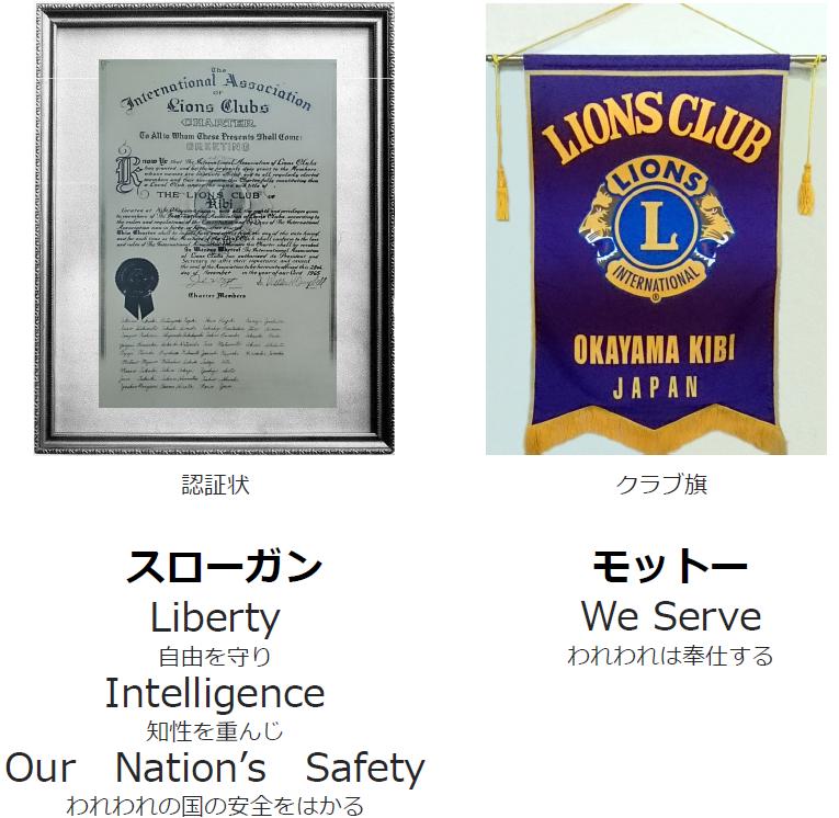 認証状と認証旗