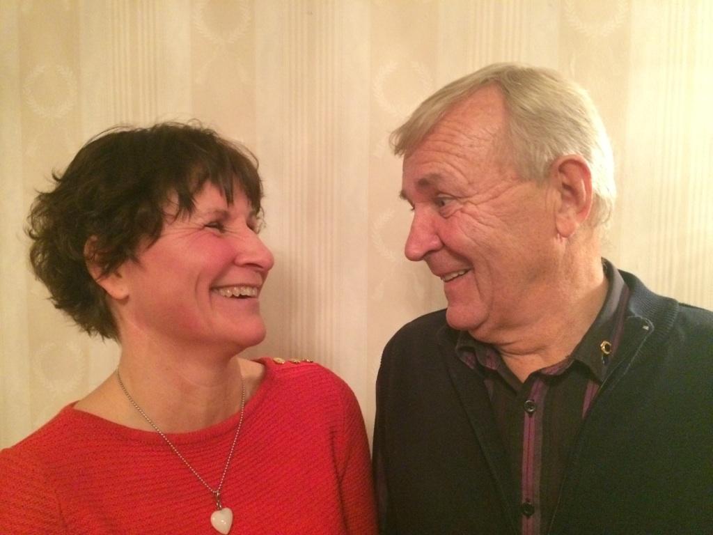 Eila Nilsson och programansvarige Kjell Karlsson samtalade glatt efteråt