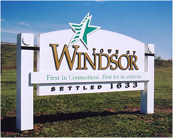 Sign for Windsor