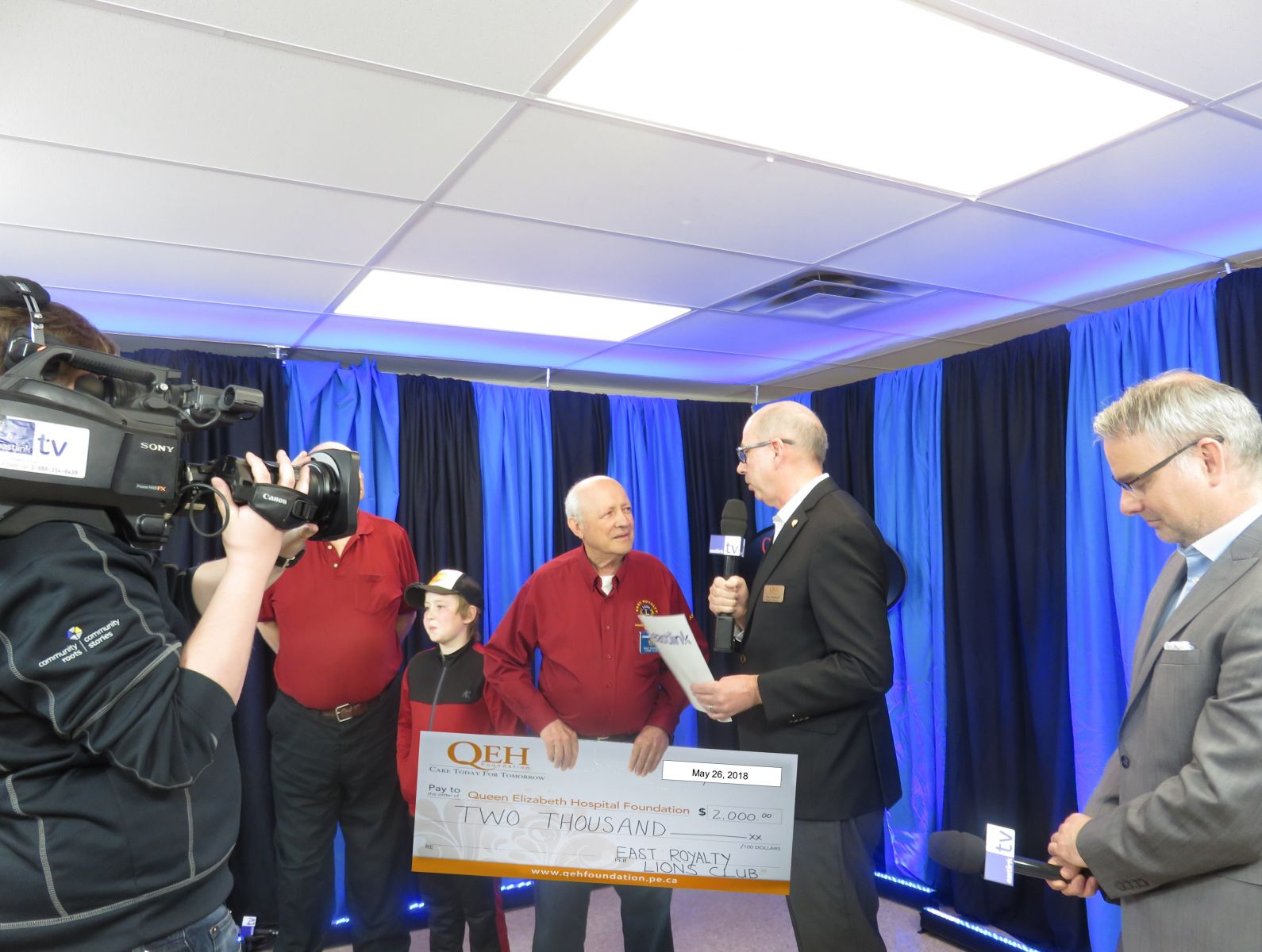 Presentation of Check for QEH