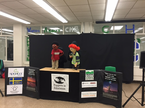 Puppets in Education at Colchester Health Fair