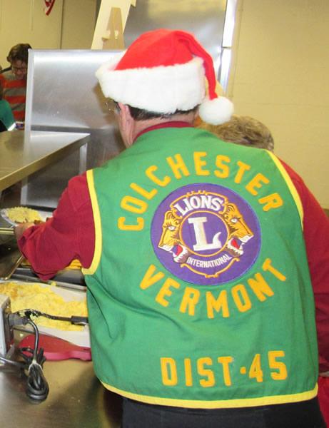 Serving Dinner with Santa